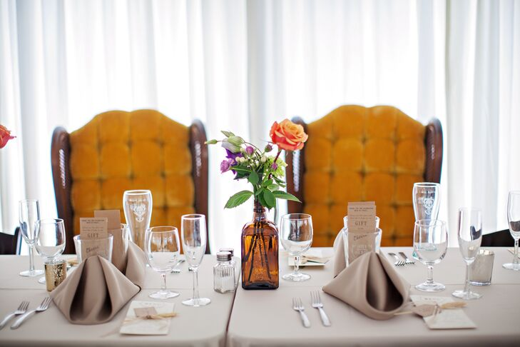 Vintage-Style Chairs and Centerpiece