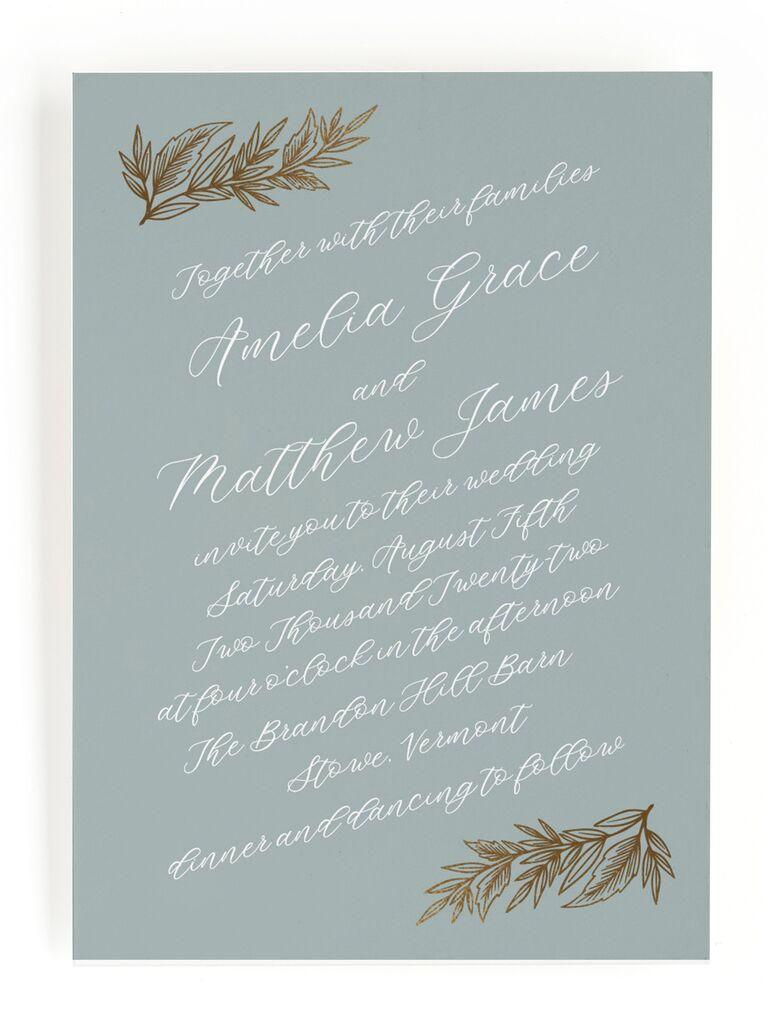 Romantic fall wedding invitation