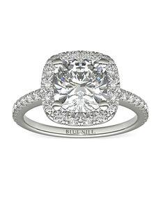 Blue Nile Cushion Cut Engagement Ring