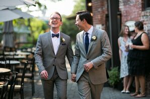 Elegant Gray Suits and Navy Ties
