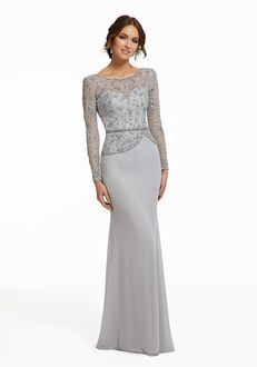 MGNY 72010 Gray Mother Of The Bride Dress