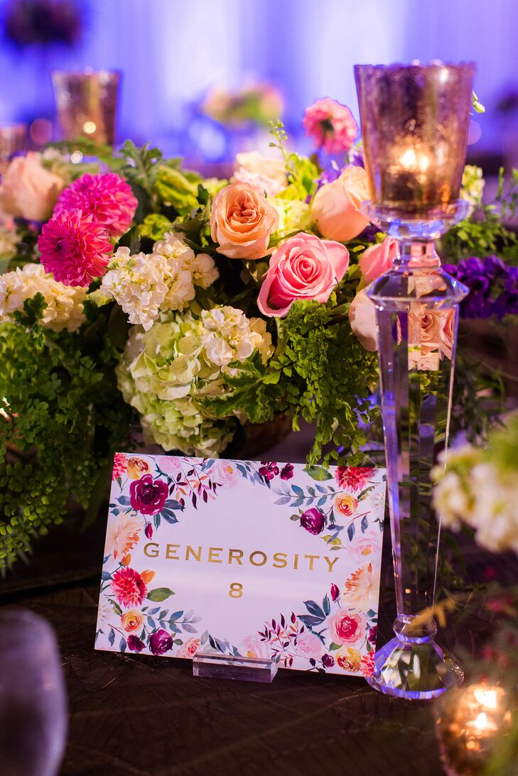 Floral-Themed Table Names