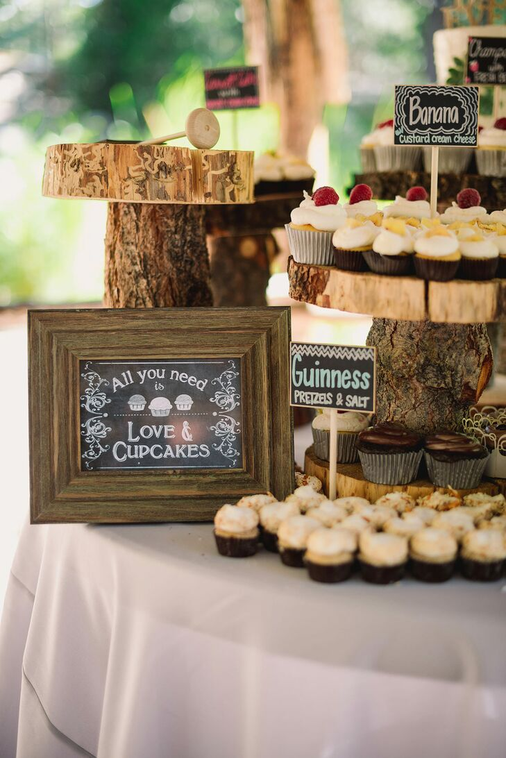 In addition to cake, dessert included cupcakes in eight flavors, ranging from banana to champagne.