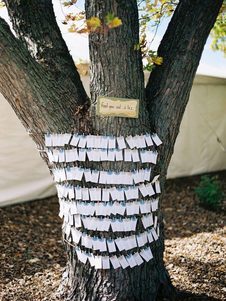 Shabby Chic, DIY Escort Card Display on Tree
