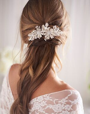 Dareth Colburn Sonny Floral Bridal Clip (TC-2429) Gold, Silver Pins, Combs + Clip