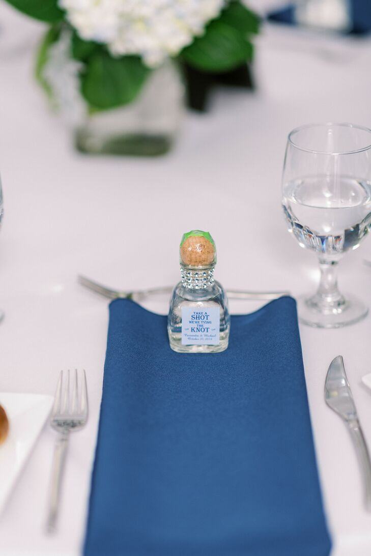 Tequila Favor for Wedding at The Vault in Tampa, Florida