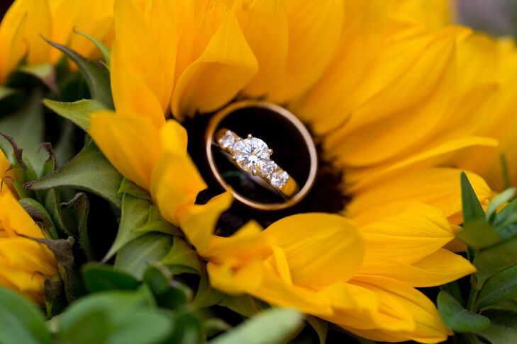 Round Engagement Ring in Sunflower