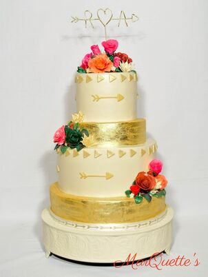 Simple Ercream Wedding Cake Image May Contain Flower Plant And Indoor
