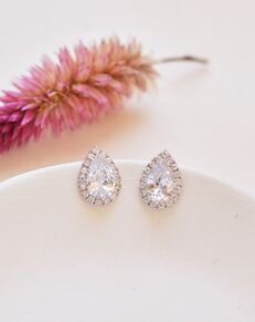 Dareth Colburn Maya CZ Stud Earrings (JE-4169) Wedding Earring photo