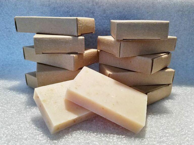 Custom bars of soap unique wedding favors