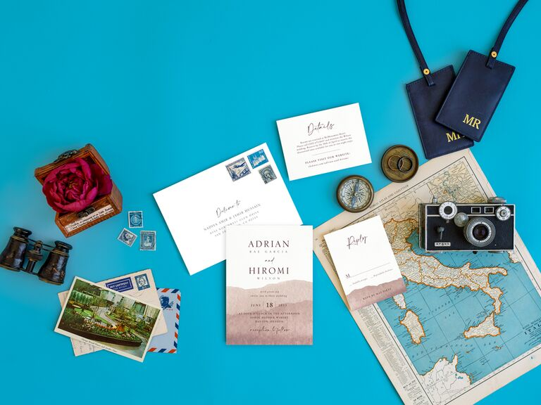 how to choose wedding stationery design travel themed