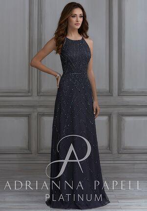 Adrianna Papell Platinum 40117 Halter Bridesmaid Dress
