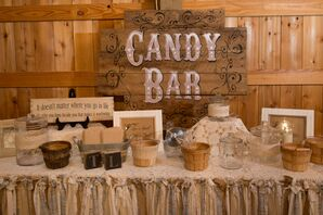 Vintage-Inspired Rustic Candy Bar
