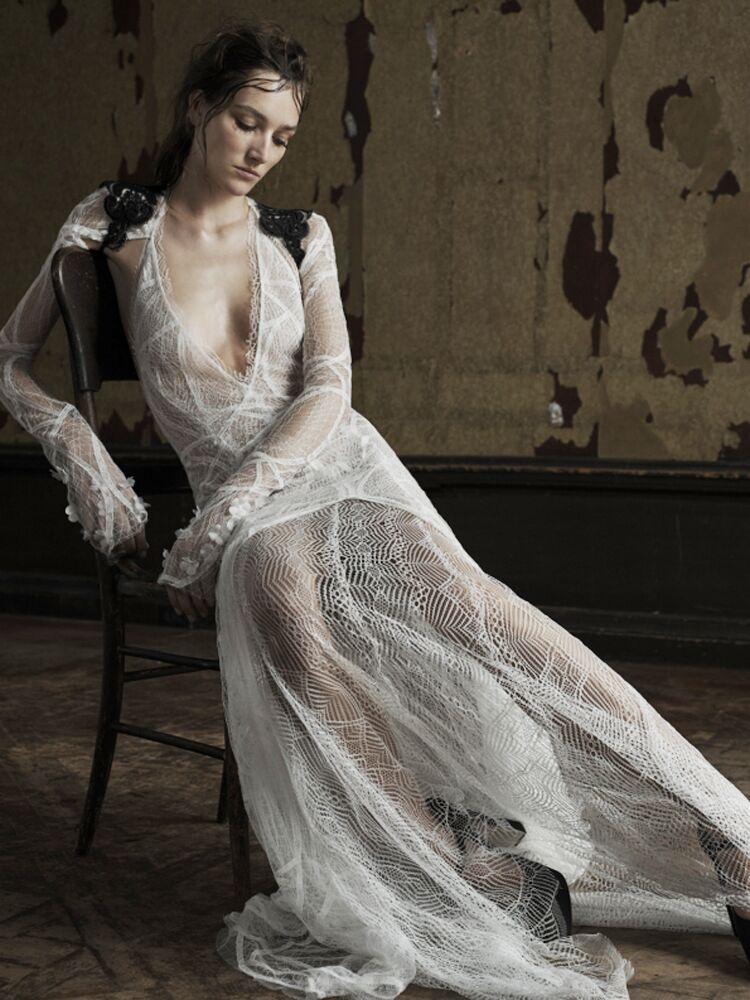 Vera Wang Sheer Wedding Dress