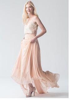 Jenny Yoo Collection (Maids) Emerson Print Cami #L2681P V-Neck Bridesmaid Dress