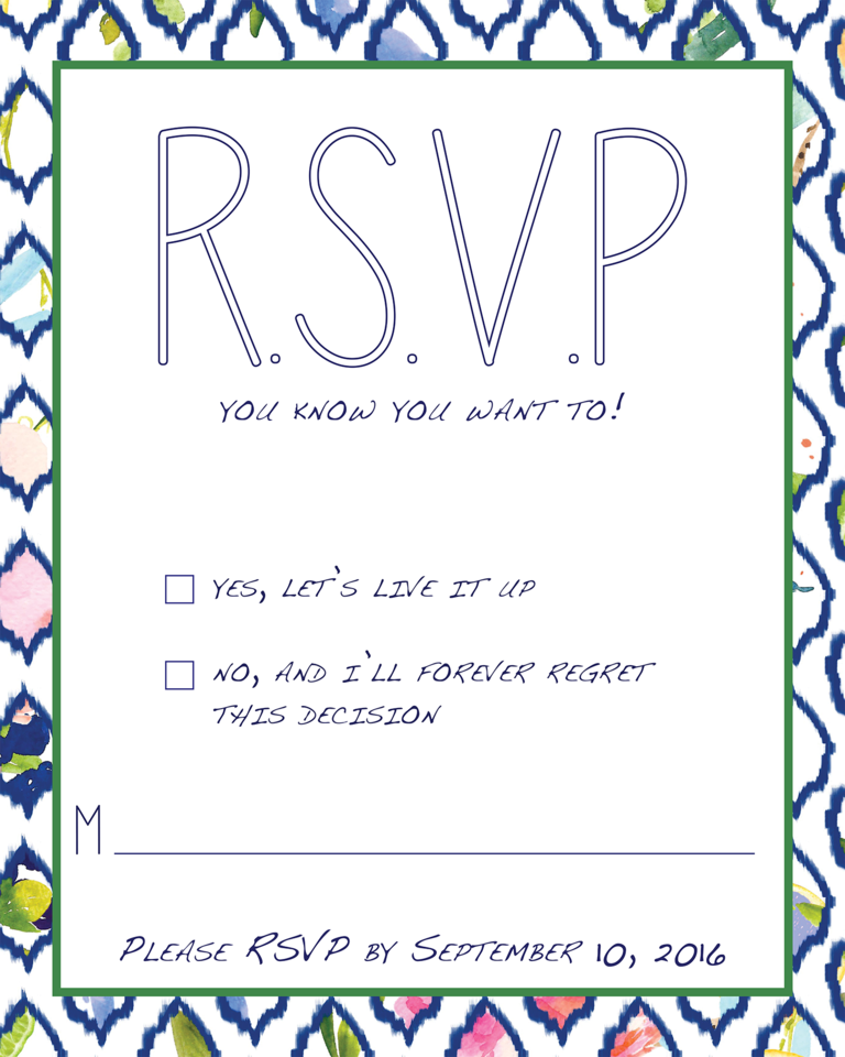 rsvp wedding wording template