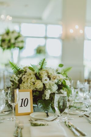 Elegant Gold, Black and White Table Number