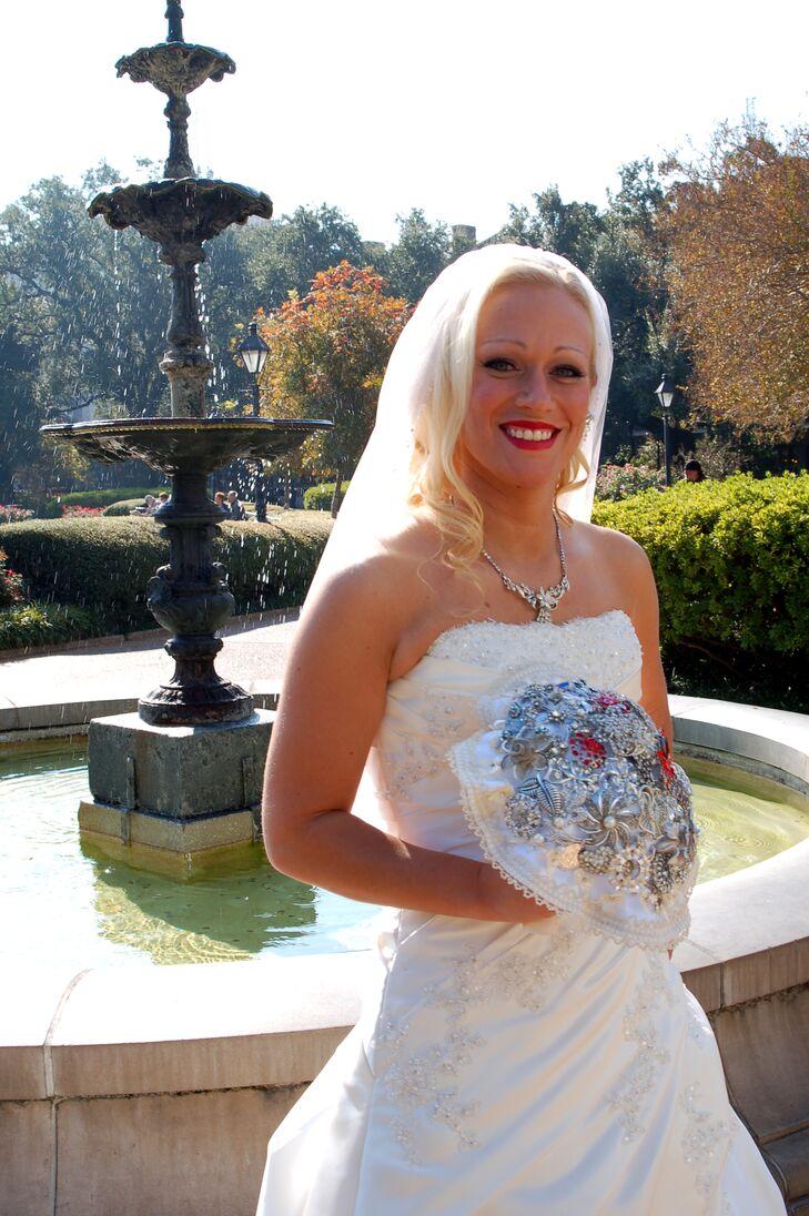 DIY Brooch Bouquet for New Orleans Bride