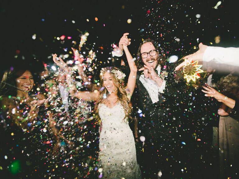 Backyard Wedding Ideas Confetti