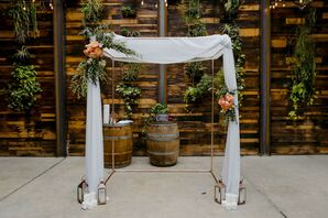 Chuppah with Draping at Brooklyn, New York, Elopement