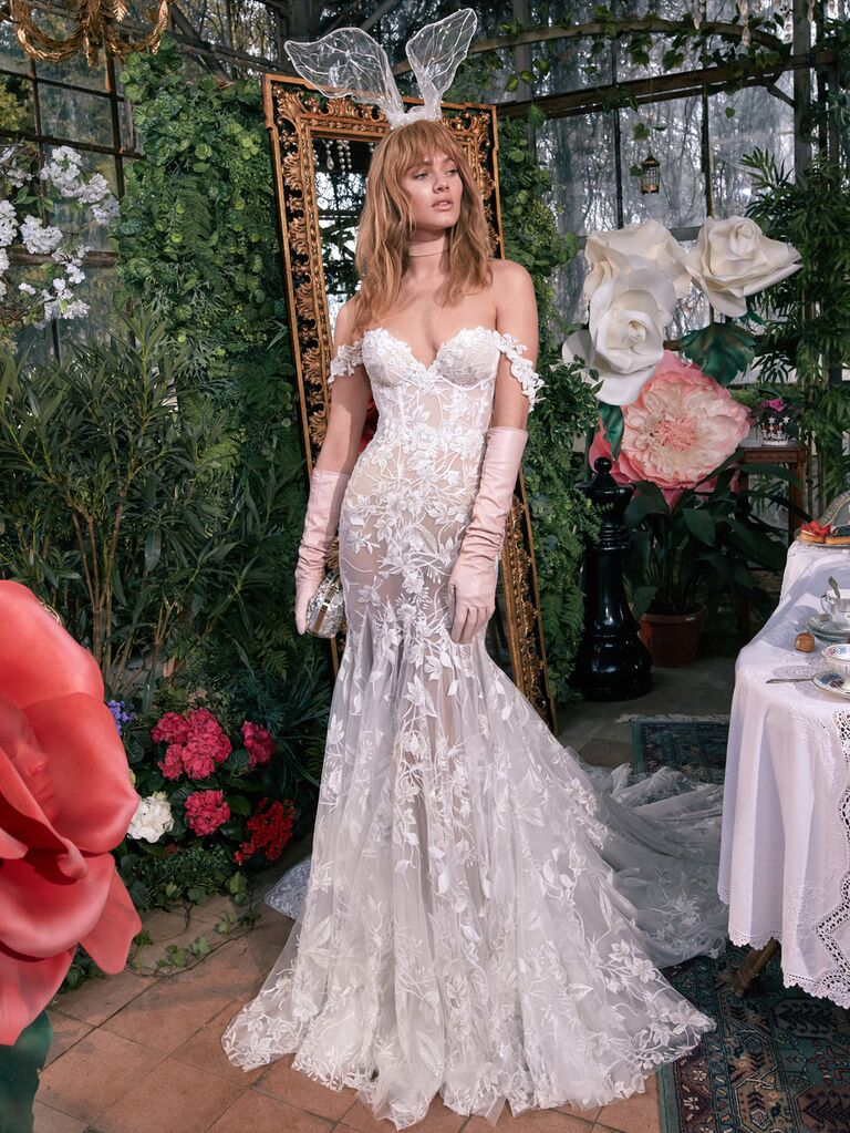 GALA by Galia Lahav Spring 2020 Bridal Collection lace fit-and-flare wedding dress