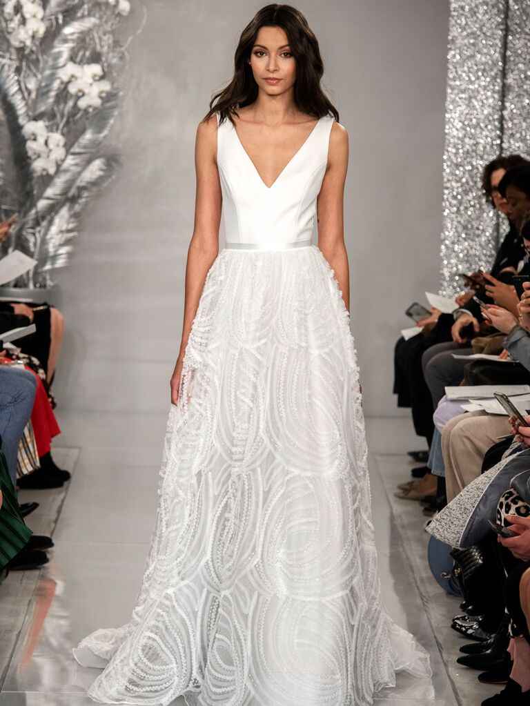 Theia Spring 2020 Bridal Collection A-line V-neck wedding dress