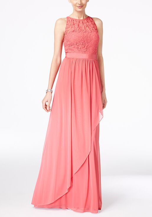 6c76be1461b Adrianna Papell Adrianna Papell Lace Illusion Halter Gown Illusion  Bridesmaid Dress