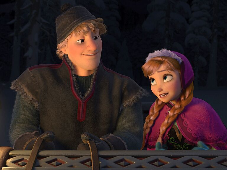Anna and Kristoff famous disney couples