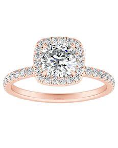 DiamondWish.com Elegant Cushion Cut Engagement Ring
