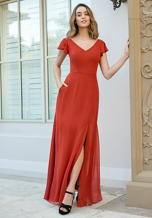 B2 Bridesmaids by Jasmine B233062 V-Neck Bridesmaid Dress