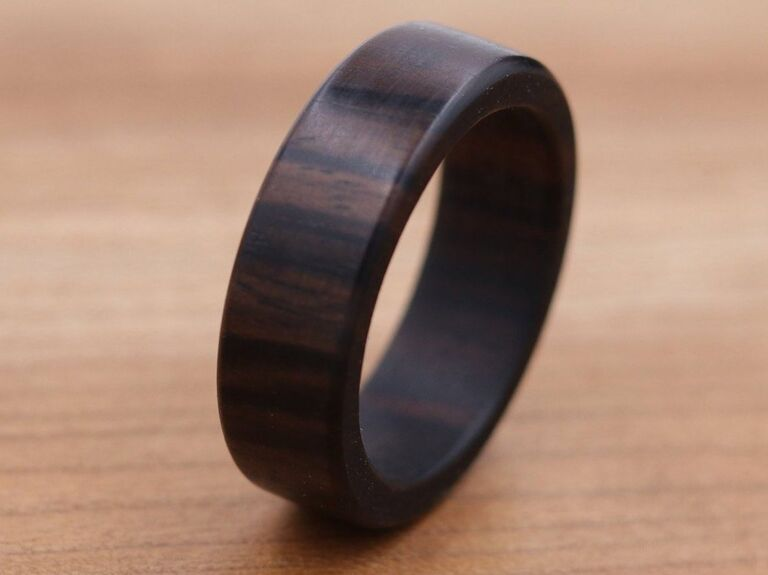 Hart Wood Co. Macassar ebony wood ring