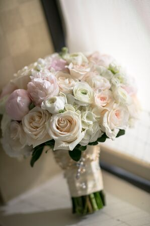 Pastel Rose and Ranunculus Bouquet