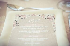 Flower-Decorated Menu Cards