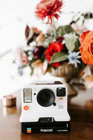 Polaroid Camera for Guest Book at Brick in San Diego, California