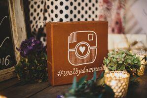 Brick Block with Instagram Hashtag
