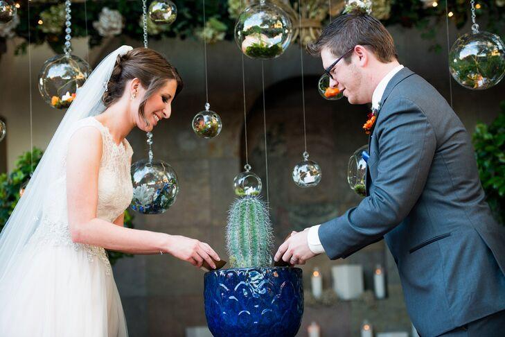 Kathleen and Matt Unity Cactus at Arizona Wedding