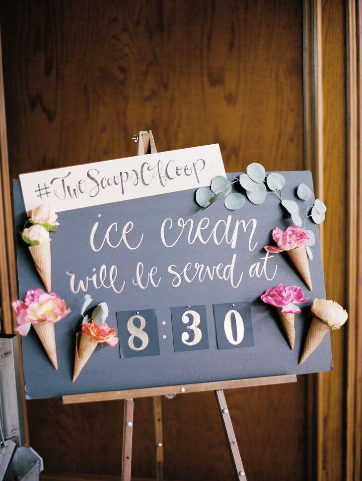 Chalkboard Ice Cream Bar Signage