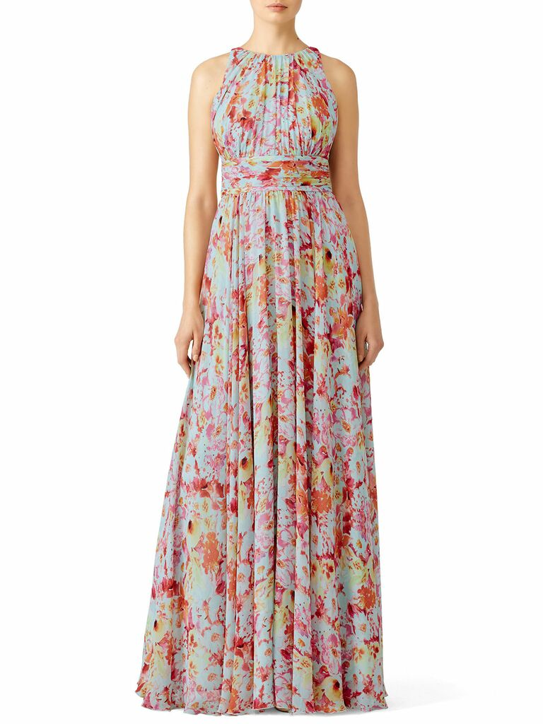 utopia printed maxi dress