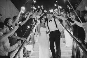 Sparkler Recessional from W Austin Hotel