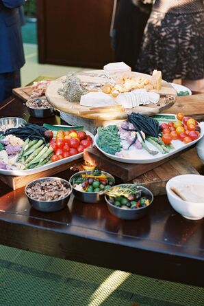 Rustic, Family-Style Reception Meal