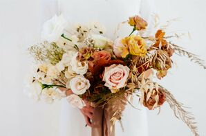 Bohemian Bouquet at Modern and Minimal Wedding in San Diego, California