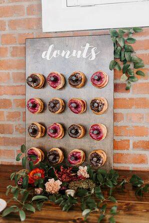 Donut Wall for Reception at Brick in San Diego, California