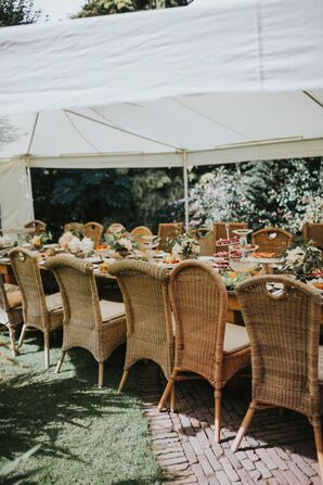 Wicker Garden Tea Party Chairs