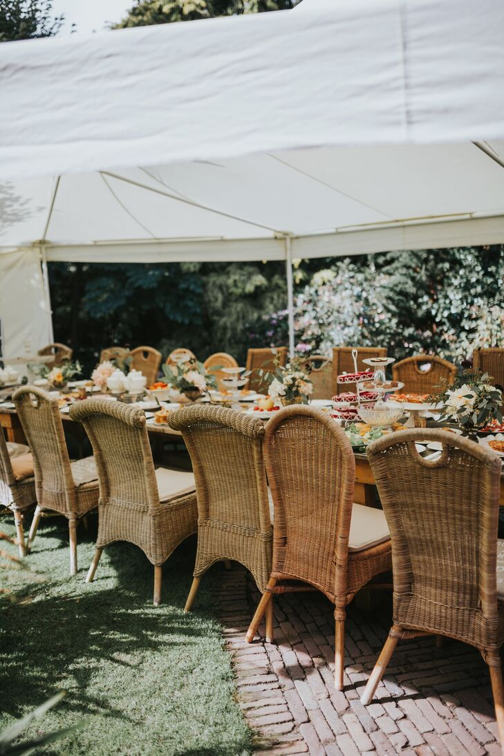 Wicker Garden Tea Party Chairs