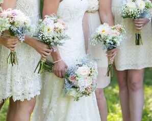 Ivory Lace Bridesmaid Dresses
