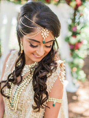 Indian Bride with Traditional Necklaces and Hair Accessories