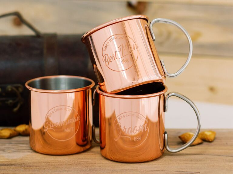 personalized copper mug groomsmen gift