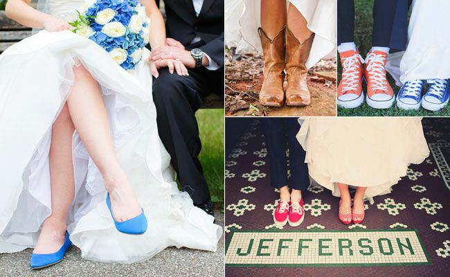 Brides who didn't wear heels | blog.theknot.com