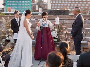 Mother of the Bride Giving Speech During Ceremony at Dobin St. in Brooklyn, New York