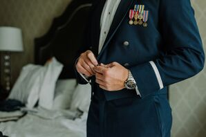 Groom's Navy Military Attire